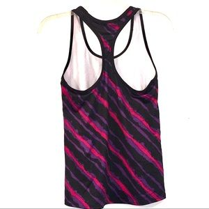 Champion Purple Red Striped Fitted Racerback TankM